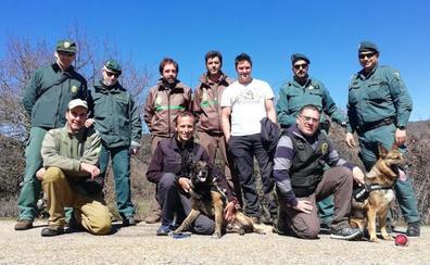 La Sierra de la Demanda es testigo del trabajo canino contra el uso ilegal de cebos envenenados