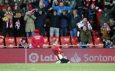 Un penalti de Muniain en el descuento mantiene la escalada del Athletic