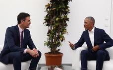 Sánchez presume de foto con Obama a las puertas de la campaña electoral