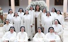 La visita de la Reina emociona a las monjas dominicas de Lerma