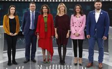 Más tensión que propuestas, con Cataluña en el epicentro, en el debate electoral a seis de RTVE