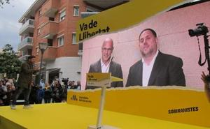 Junqueras, en un mitin desde prisión: «Nos tenéis que hacer libres con vuestros votos»