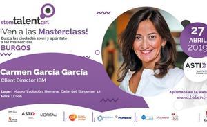 Carmen García impartirá este sábado la sexta masterclass de STEM Talent Girl en Burgos