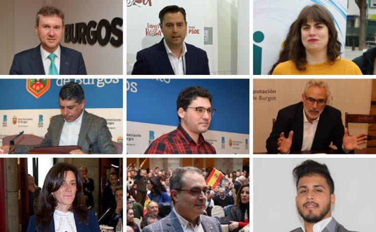 Estos son los nueve candidatos a la Alcaldía de Burgos el 26-M