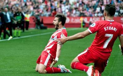 El Girona consigue una victoria de vital importancia por la permanencia