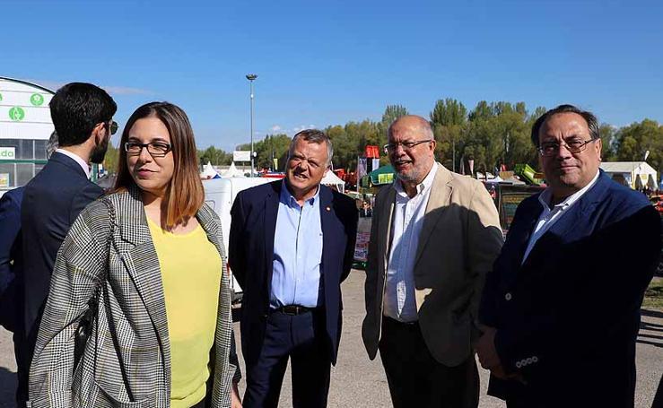 La Feria de Maquinaria Agrícola de Lerma se ha convertido en escenario político entre campañas
