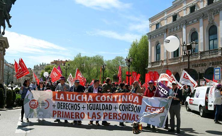 Manifestación de CCOO y UGT en el Día Internacional de los Trabajadores