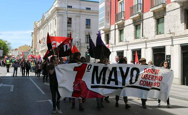 Manifestación de CGT en Burgos en el Primero de Mayo