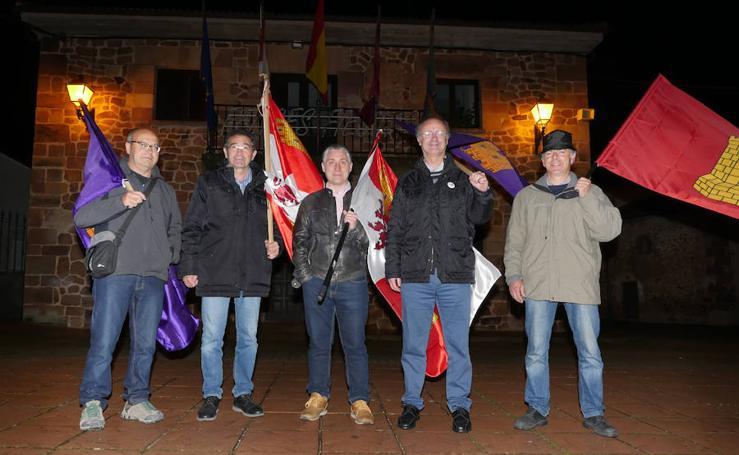 Imágenes del inicio del campaña de 'Burgos en marcha', 'Vecinos por Burgos' y 'Contigo somos Democracia'
