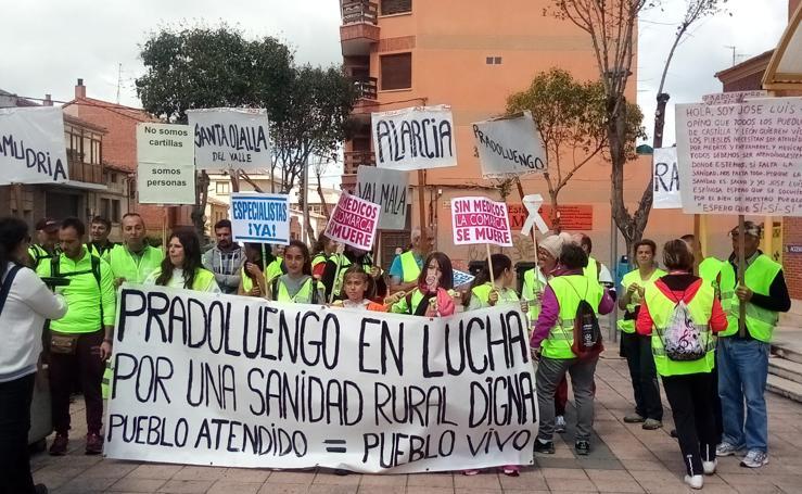 Marcha por la Sanidad Rural en Pradoluengo