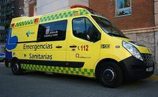 Herido un joven de 21 años en un accidente de tráfico en Campillo de Aranda