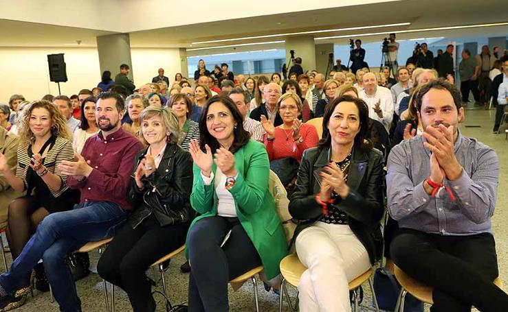 El PSOE celebra un acto de campaña en Burgos, con María Luisa Carcedo y Luis Tudanca