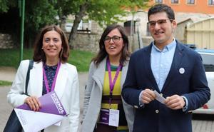Salinero confía en ser «la llave del cambio» en Burgos y apela a los indecisos para que piensen «en morado»