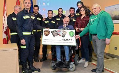 La Plataforma de Afectados de ELA reconoce el trabajo del Servicio de Bomberos de Burgos con el 'Galardón Fran Otero'