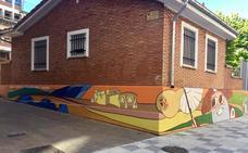 Finaliza el pintado del albergue municipal de Miranda con el diseño ganador del II Concurso de Murales