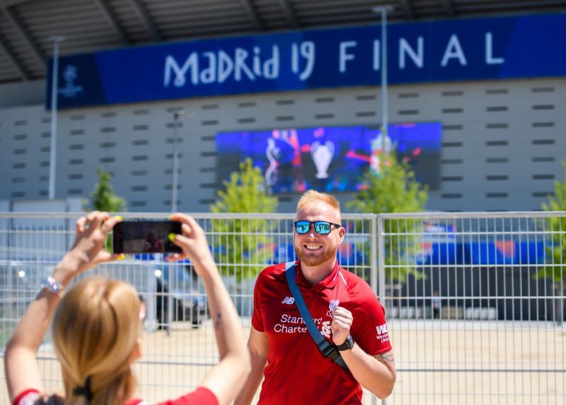 Gran ambiente en Madrid en la previa de la final de la Champions