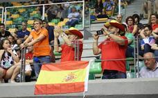 El público burgalés ha animado a la selección española en la final de este domingo ante Turquía