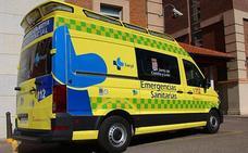 Herido y atrapado un hombre tras salirse de la vía en la AP-1 en Miranda de Ebro