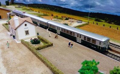 Los trenes regresan a Quintanadueñas para confeccionar una maqueta de más de 70 metros