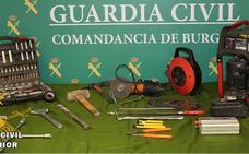 Tres detenidos por el intento de robo de un repetidor de telefonía en La Bureba