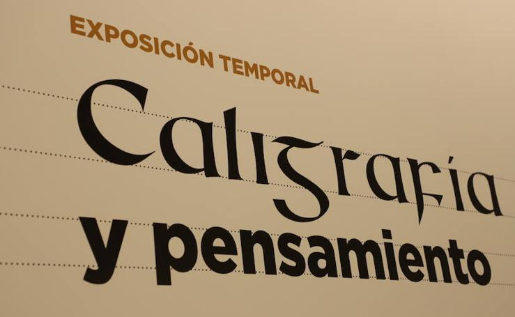 Imágenes de la exposición 'Caligrafía y Pensamiento'