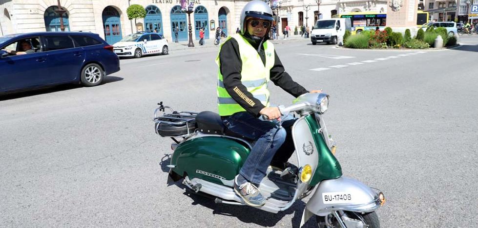 Con scooter y a lo loco