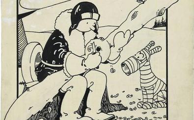 Pagan casi un millón de euros por el original de la primera portada de Titín