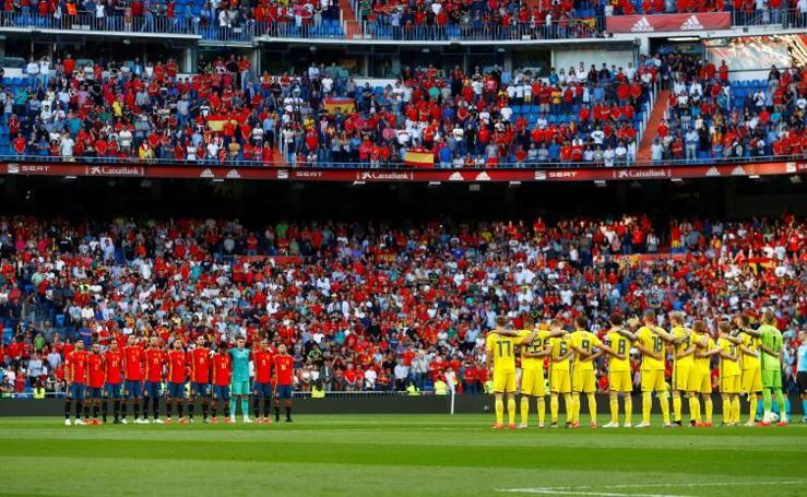 Las mejores imágenes del España-Suecia