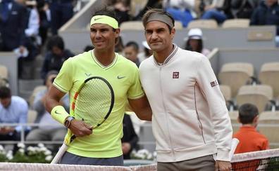 Nadal, a dos de Federer