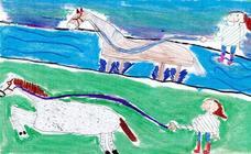 Trabajos de 3º de Primaria en la modalidad de dibujo del III Concurso de Dibujo y Cómic 'La vida del campo'