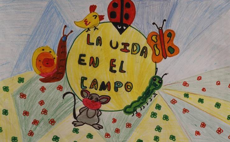 Trabajos de 6º de Primaria en la modalidad de dibujo del III Concurso de Dibujo y Cómic 'La vida del campo'
