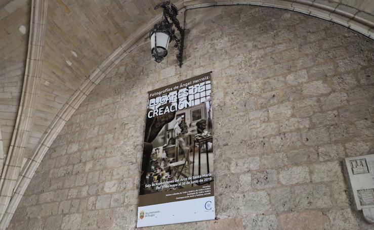 Imágenes de la exposición 'Lugares de creación' de Ángel Herraiz