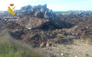 Detectada en Burgos una extracción fraudulenta de grava y piedra que podría haber alterado caminos y lindes