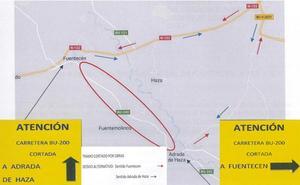 La carretera BU-200, de Fuentecén a Adrada de Haza, se cortará al tráfico el lunes 17 de junio