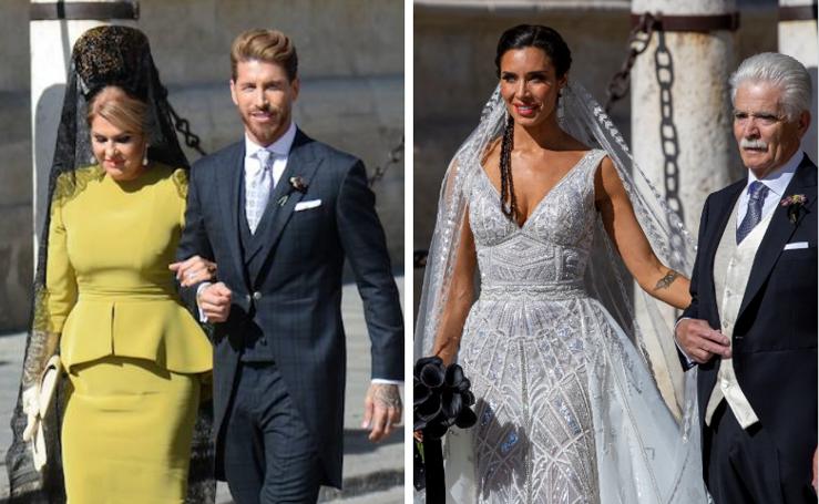 La boda de Ramos y Pilar Rubio, en imágenes