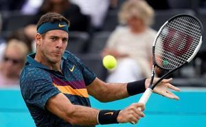 Del Potro se fractura la rótula y será baja para Wimbledon