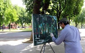 Los premios AXA de pintura llenan de colores las calles de Burgos