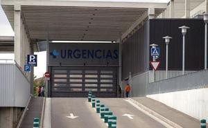 Herido un motorista en una colisión con un turismo en la calle San Pedro de Cardeña de Burgos