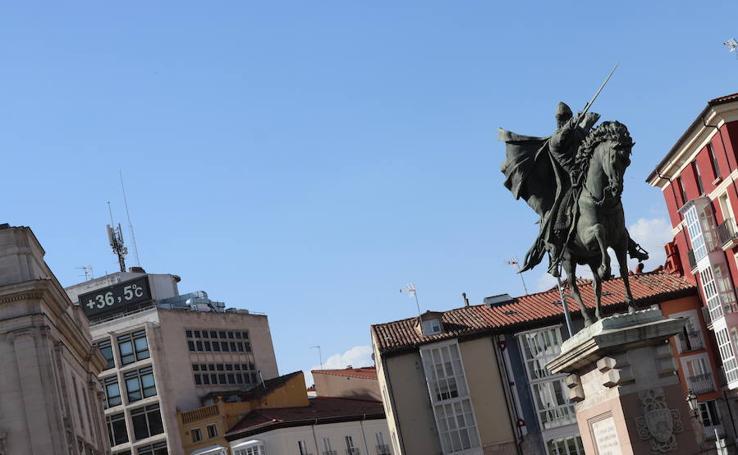 Burgos afornta la primera jornada de la ola de calor de este verano