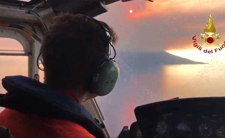 Un muerto y un herido en la explosión del volcán italiano Estrómboli