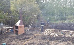 La chispa de una barbacoa que pudo acabar en tragedia en Modúbar