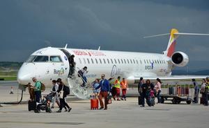 El Aeropuerto de Burgos cierra semestre con 8.437 pasajeros, casi el doble que en 2018
