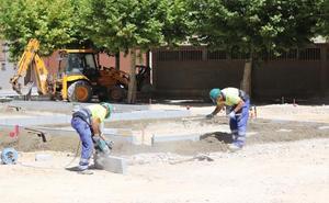 Las obras de rehabilitación de la plaza de Guadalajara concluirán «como muy tarde» en diciembre