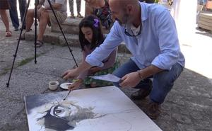 Una docena de acuarelistas exponen sus trabajos en Medina de Pomar