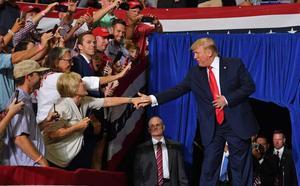 El discurso racista de Donald Trump prende en sus mítines