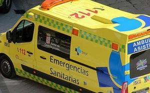 Una colisión por alcance de cuatro turismos en la calle Vitoria deja dos heridos leves