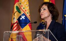 Carmen Calvo pide responsabilidad a los partidos: «Construimos o destruimos»