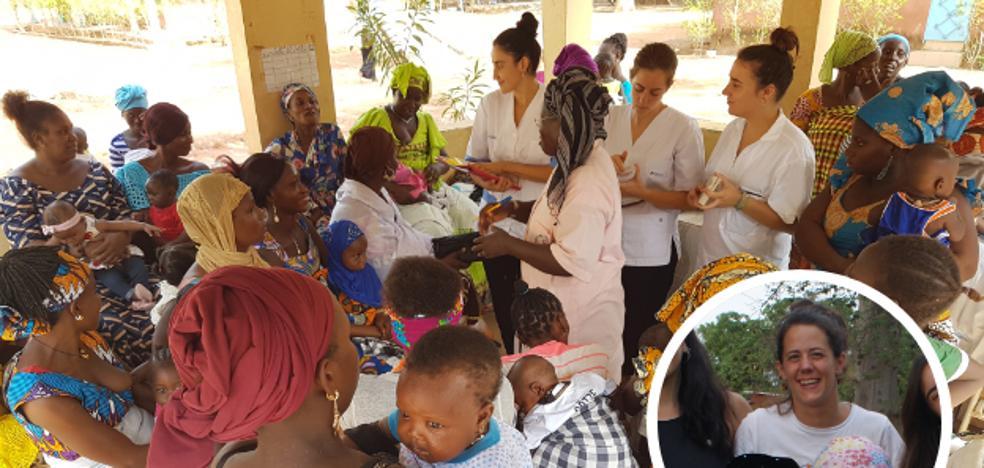 Fisioterapeuta de cabeza, un aprendizaje de ida y vuelta en África