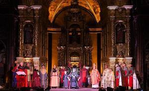 La historia de Castilla irrumpe un año más en el Monasterio de San Salvador de Oña