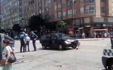 Accidente sin heridos en la calle Vitoria